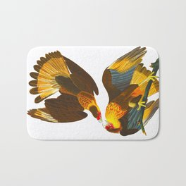 Caracara Eagle Illustration Bath Mat