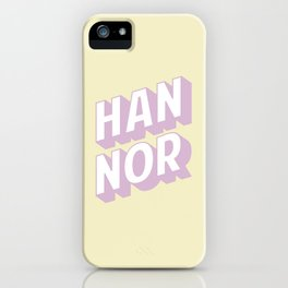 HAN NOR iPhone Case