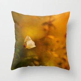 White flowers in the morning light Throw Pillow