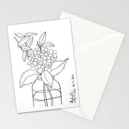 Floral Arrangement On My Deck Stationery Cards