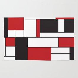 Geometric Abstract - Rectangulars Colored Rug