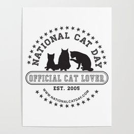 National Cat Day Poster