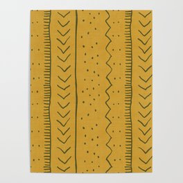Moroccan Stripe in Mustard Yellow Poster