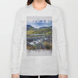 Snowdonia Tryfan Painting Long Sleeve T-shirt