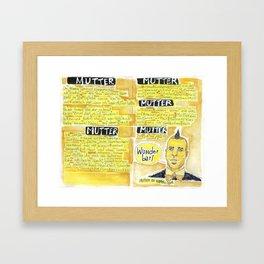 Rammstein - Mutter Framed Art Print