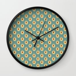 Quadrille 2 (Duck Egg Blue) Wall Clock