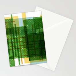 Abstract Geometric Dots Stationery Cards