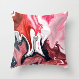 Blood in Milk Throw Pillow