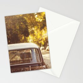 Autumn streets Stationery Cards