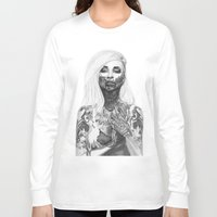 tattoos Long Sleeve T-shirts featuring Blood and Tattoos by Pippi K