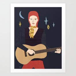 The star man Art Print