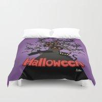 halloween Duvet Covers featuring Halloween by BATKEI