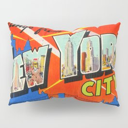 Greetings From New York City Pillow Sham