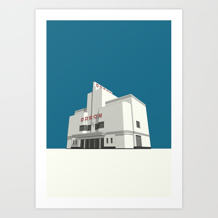ODEON Balham Art Print