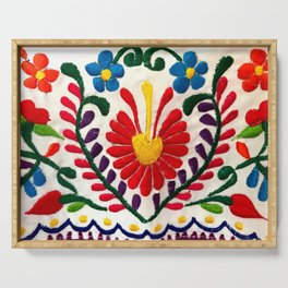 Red Mexican Flower Serving Tray