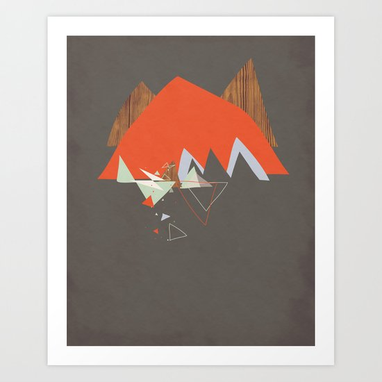 Party In The Mountains//Seven Art Print