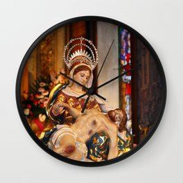 Our Lady of Piety Wall Clock