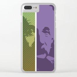 Einstein – Genius Quotes Clear iPhone Case