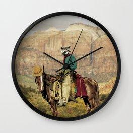 Old Rocky Bill Wall Clock