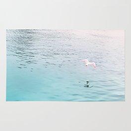 Seagull flying Rug
