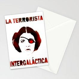 La Terrorista Intergalactica by MrMAHAFFEY Stationery Cards