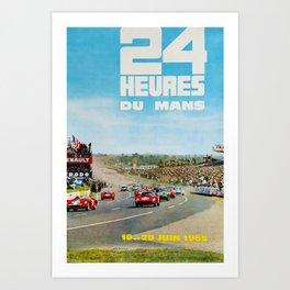 1965 Le Mans poster, Race poster, car poster, garage poster Art Print