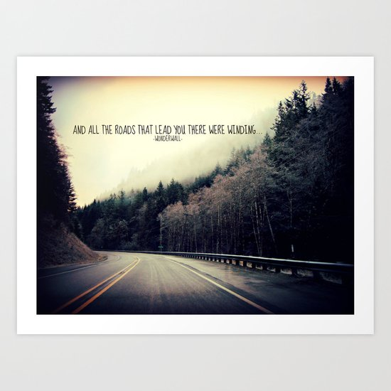 WINDING ROADS ON HWY 101  Art Print