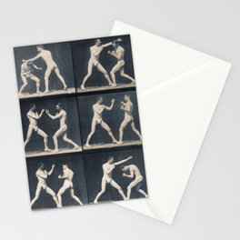 Time Lapse Motion Study Men Boxing Boxer Boxers Fighting Ring Stationery Cards