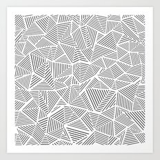 Abstraction Linear Inverted Art Print
