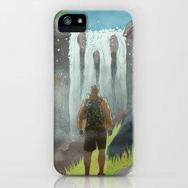 HK Bokuto's waterfall iPhone Case
