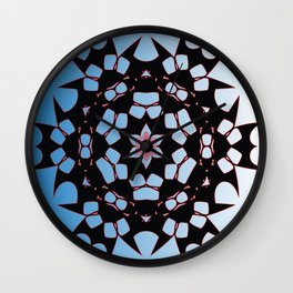 Jagged Snowflake | Geometric Design Wall Clock