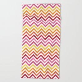 Rainbow Chevron #1 Beach Towel