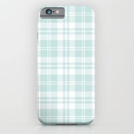 Cozy Plaid in Mint iPhone Case