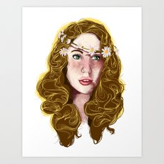 Flowers In Your Hair.... Art Print