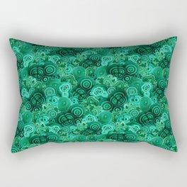 Malachite Swirls in Emerald Garden Rectangular Pillow