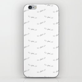 Flying Fuck - White - Pattern iPhone Skin