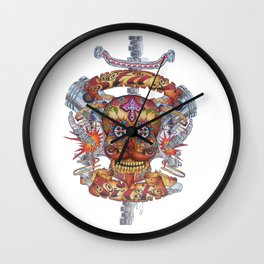 Mutant Day of the Dead Skull Wall Clock