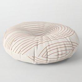 Burnt Orange Line Art Floor Pillow