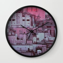 Fukuoka Pastel Wall Clock