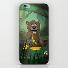 Baby Bear in the Honey Pot iPhone Skin