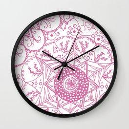 Beth Mandala Pink Wall Clock
