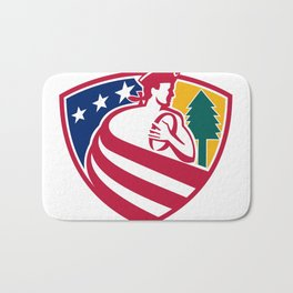 American Patriot Rugby Shield Bath Mat