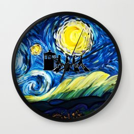 The Doctor With Starry Night Wall Clock