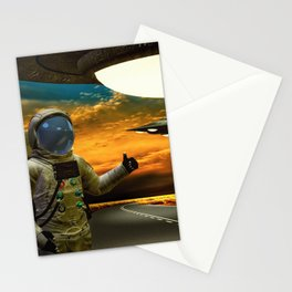 Hitchinghiking Across The Universe Stationery Cards