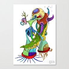 Crocodile tears collector Canvas Print