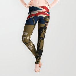 Vintage poster - This is Your Flag Leggings