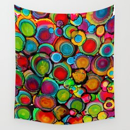 Conscious Overlap (Alcohol Inks Series 03) Wall Tapestry