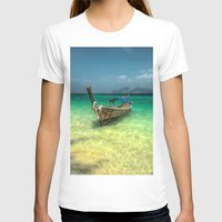 thailand T-shirts featuring Thailand Longboat by Adrian Evans