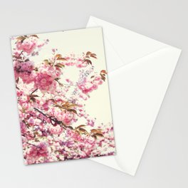 Cherry blossoms world Stationery Cards