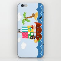 pirate ship iPhone & iPod Skins featuring PIRATE SHIP (AQUATIC VEHICLES) by Alapapaju